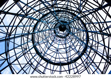Skillfully crafted Cone shaped metallic structure - stock photo