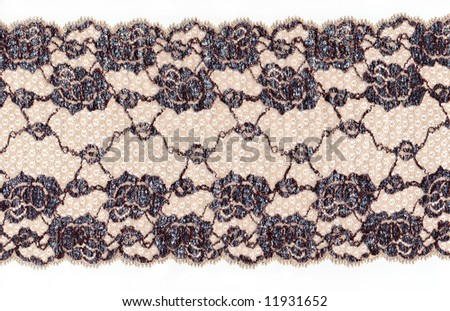 skin color lace with flowers - stock photo
