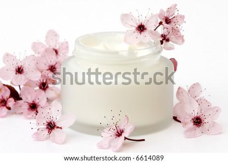 Skin cream - stock photo