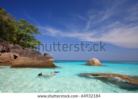 Skin Diving, Similan Islands, Marine National Park, South of Thailand