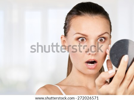 Skin, spot, face. - stock photo