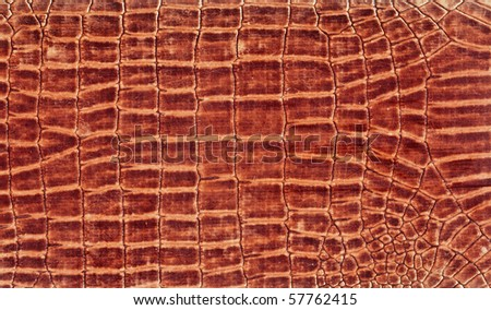 Skin texture in brown color - stock photo