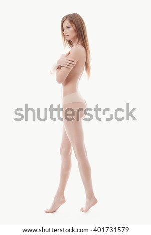 Skincare. Woman with beautiful body - stock photo