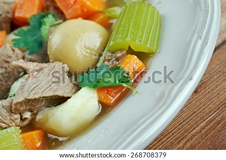 Skirts and kidneys - Irish stew made from pork and pork kidneys.