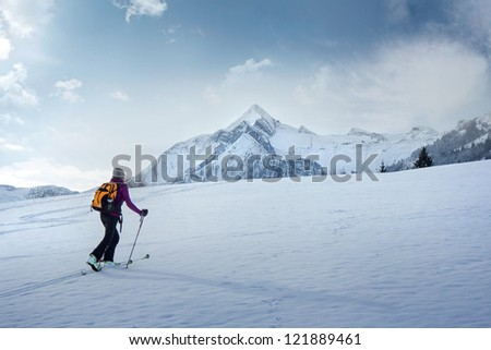 Skitouring - stock photo
