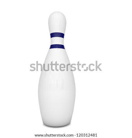 Skittles bowling on white background - stock photo