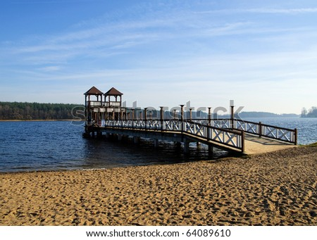 Skocznia - Olecko Pier - stock photo