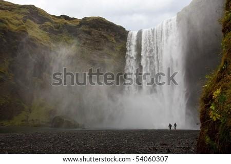 Skogafoss - Iceland - stock photo