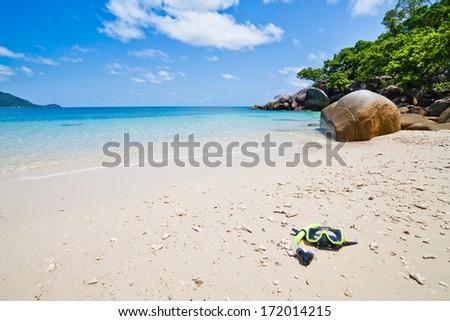 skorkelling on the Great Barrier Reef, Australia  - stock photo