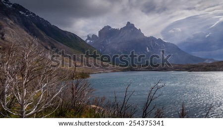 Skottsberg Lake at Torres Del Paine National Park, Chile
