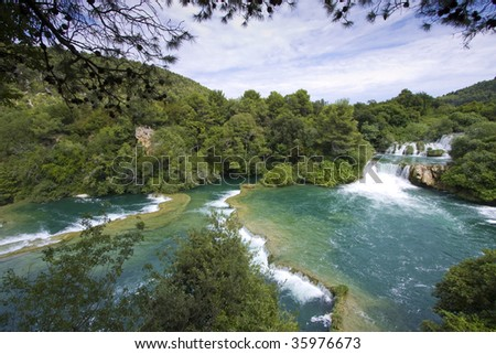 Skradinski Buk World Famous Waterfall On Stock Photo - World famous river name