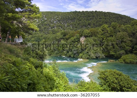 Roski Slap Krka National Park Croatia Stock Photo - World famous river name