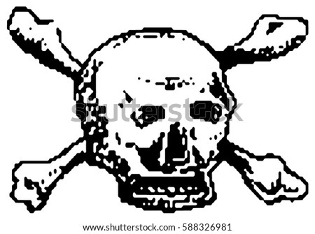 Skull And Crossbones Pixel Stock Images, Royalty-Free ...
