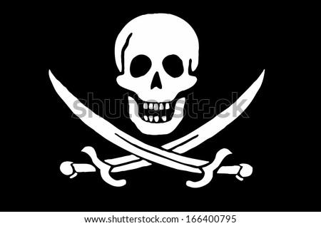 Skull and crossed swords  - stock photo