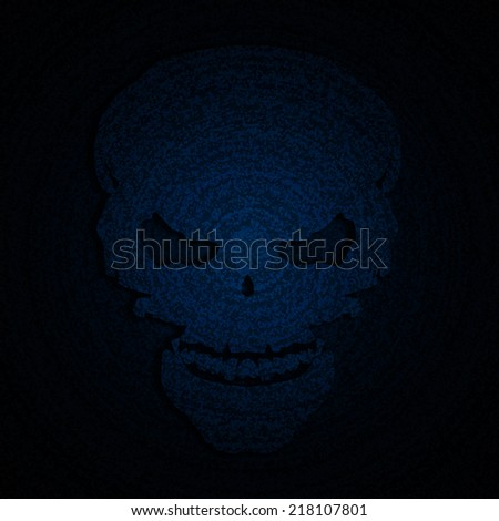 skull blue halloween background