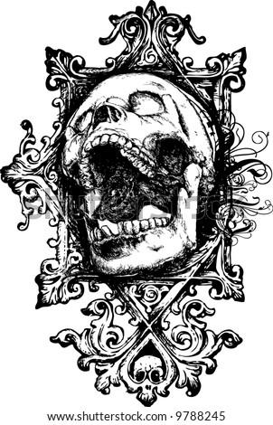 Skull 7 illustration - stock photo