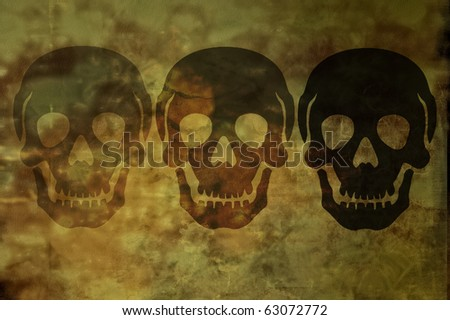 Skull image with spooky Smokey background