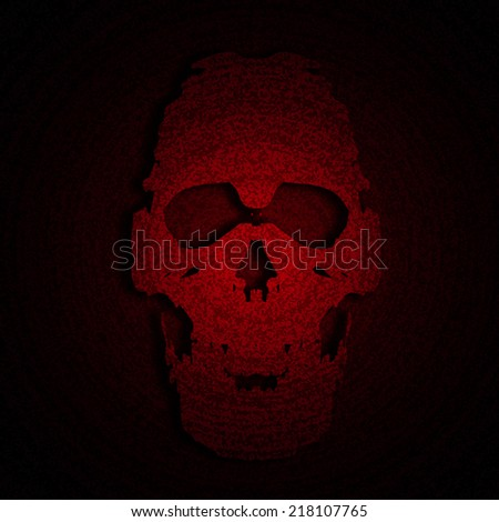 skull red halloween background