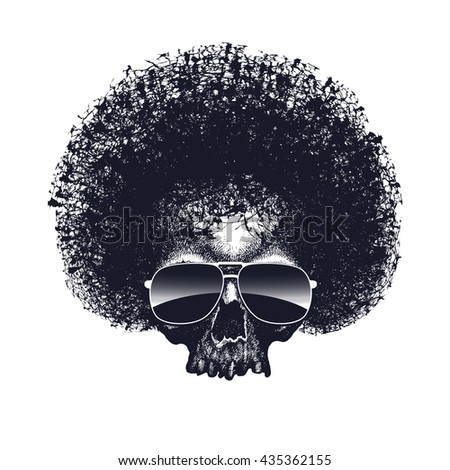 Skull reggae graphic design. Jpeg version. - stock photo