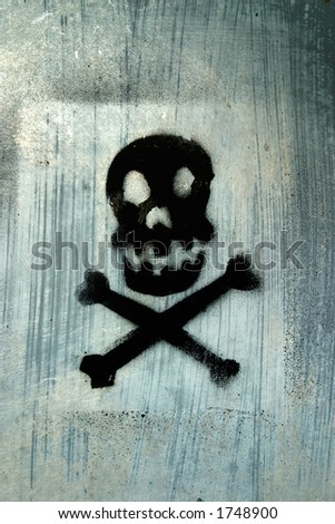 Skull with abstract background. - stock photo