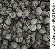 Skulls background grunge - stock photo