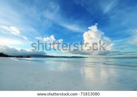 Sky above beach at Boracay, Philippines - stock photo