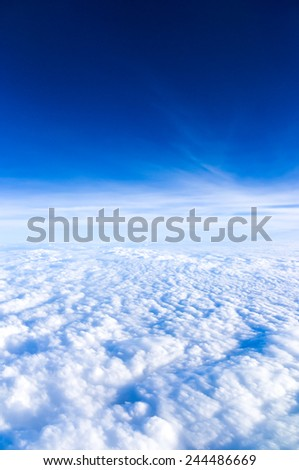 sky above clouds - blue heavenly bright daylight