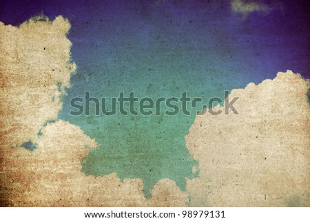 Sky Abstract background,Vintage style - stock photo