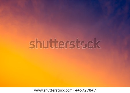 Sky after rain and the sun goes down. Bright glowing sunset. - stock photo