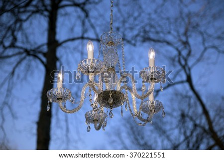 Sky and chandelier - stock photo