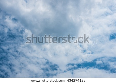 sky and cloud - stock photo