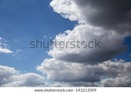Sky and clouds background.
