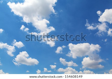 Sky and clouds background - stock photo