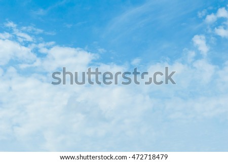 Sky and clouds background