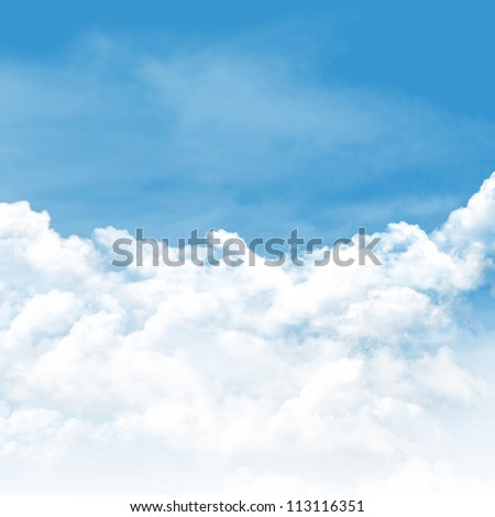 Sky and clouds background in summer day - stock photo