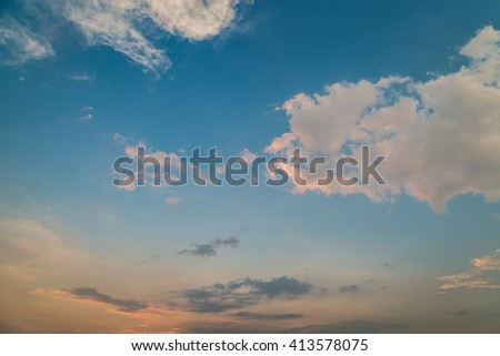 sky and clouds before sunset background