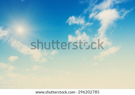 Sky and clouds. Bright air - stock photo