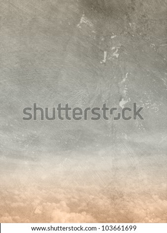 Sky and clouds - grunge background - stock photo