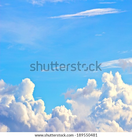 Sky and clouds may be used as background. - stock photo