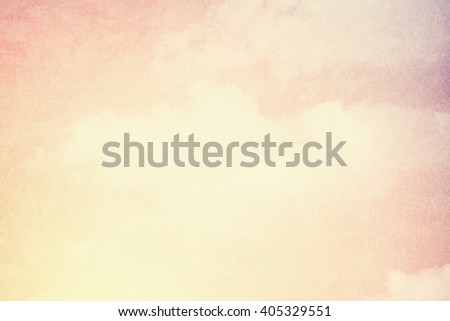 sky and clouds with gradient filter and grunge texture, nature abstract background - stock photo