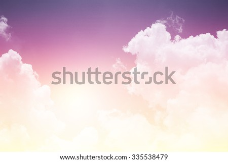 sky and clouds with pastel gradient filter - stock photo
