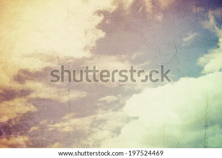sky and clouds with vintage filtered image,quote,life quote