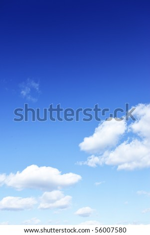 Sky and clouds, write your own text over blue sky - stock photo