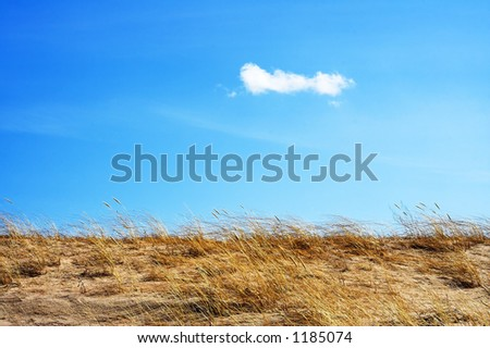 sky and dunes - stock photo