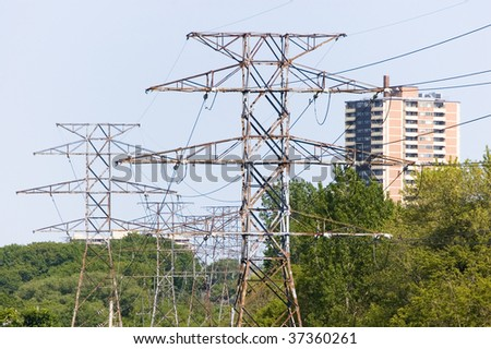 sky and pylon electricity industry
