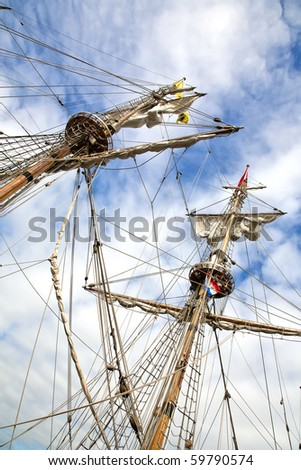 sky and sail - stock photo