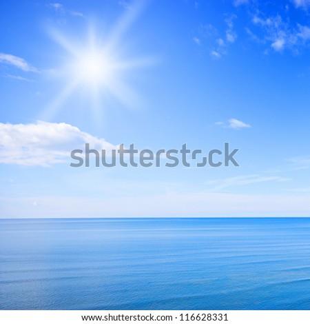 Sky and sea photo - stock photo