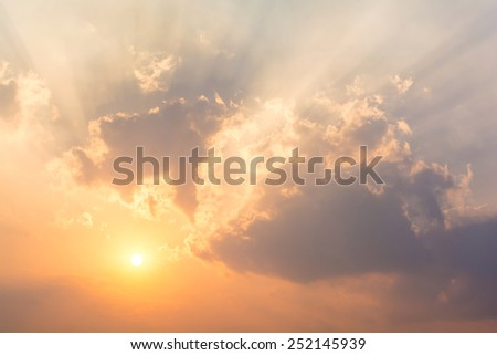 sky and sunlight - stock photo