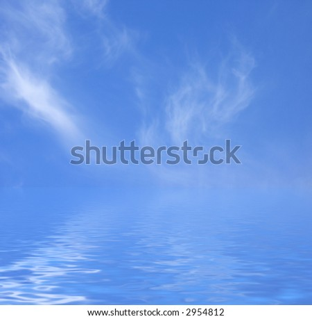 Sky and Water - stock photo