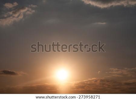 sky at sunset - stock photo